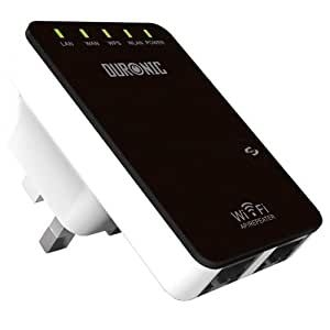 Duronic IR325N Wireless-N Wifi Repeater Access point Amplifier / Wifi range extender 802.11n/b/g - More range for your network