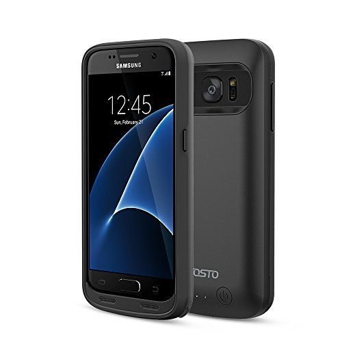 Galaxy S7 Battery Case, FOSTO Ultra Slim Portable Charger Galaxy S7 Charging Case,(Not fit Galaxy S7 Edge )4500mAh External Rechargeable Protective Power Pack Juice Bank for Samsung Galaxy S7