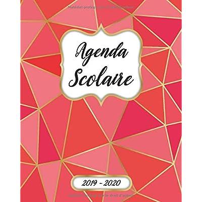 Agenda Scolaire 2019 2020 Mensuel Et Semainier: Agenda Scolaire 2019-2020 Pour Etudiant Et Professeur | Calendrier, Planificateur, Journalier, ... à Août 2020 | Motif Polygone Rouge Couverture