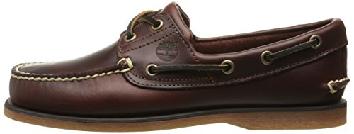 Timberland Men s Classic 2 Eye Boat Leather Shoe  Brown  Rootbeer Smooth 25077   44 5 EU