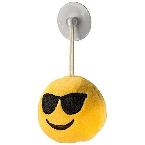 Emoti Emoticon occhiali da sole Ciondolo Peluche con ventosa per auto macchina