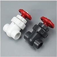1pc I.D 20/25 / 32/40 mm UPVC Válvula de compuerta de control de flujo de precisión PVC esclusa Jardín válvula de riego acuario válvula PVC (Color : Dark Gray, Diameter : Inner Dia 25mm(DN20))