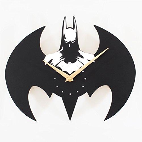 Actim Reloj de Pared de Cuarzo Silencioso Reloj de Historieta Estéreo de Batman, White