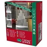 Konstsmide 2401-900TR LED Metallleuchter gebürstet / für Innen /  3V Innentrafo / 10 warm weiße Dioden / transparentes Kabel