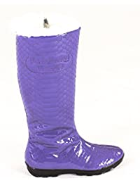Baldinini 2203 Violet Leather Italian Designer Women Boots 634dcdc2254
