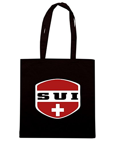 T-Shirtshock - Borsa Shopping WC0128 SVIZZERA Nero