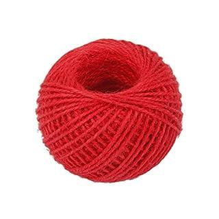 Grifri 50m Wrap Hemp Rope Gift Bracelet Cord Rope String Ball Red