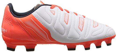Puma Evopower 4.2 Ag Jr, Chaussures de Football mixte enfant Blanc (White/Total Eclipse/Lava Blast)