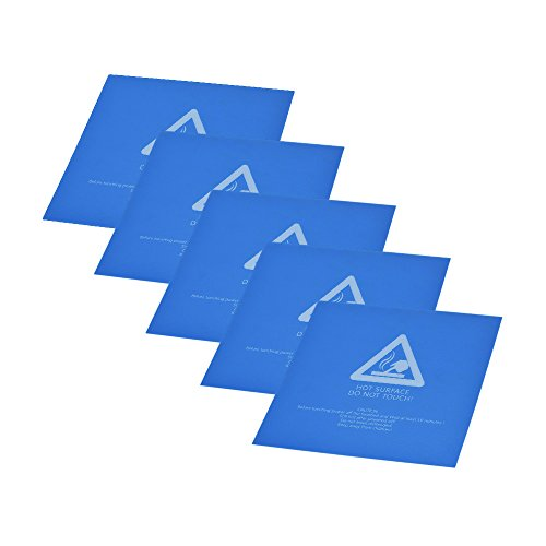 Aibecy 5pcs 220* 220mm di nastro autoadesivo di calore letto caldo letto costruire surface 80–100℃ con parte posteriore adesiva per stampante 3d anet a6a8wanhao i3 blue