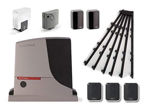 Nice-ROBUS-500-HS-RB500HS-motor-SMXI-receptor-3-X-ON2E-transmisores-EPMB-par-de-fotoclulas-ELDC-Luz-intermitente-para-el-accionamiento-rpido-de-puertas-correderas-de-hasta-8-m-o-500-kg-24-Vdc-6m-Crema