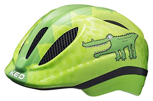 Preisvergleich Produktbild KED Meggy Trend Helmet Kids Green Croco Kopfumfang XS / 44-49cm 2019 Fahrradhelm