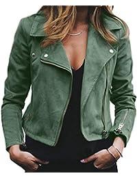 nuovo concetto 0cb99 6da9a Amazon.it: giacca ecopelle - Giacche e cappotti / Donna ...