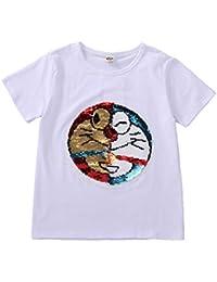 f7fe6acdf Camiseta de Sudadera con Lentejuelas mágica para niños y niños Camiseta sin  Mangas de algodón (