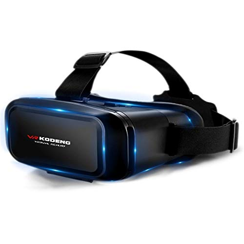 K3 Virtual Reality VR Brille Handy 3D Theater 4D Spiel Headset VR Auge Eine Maschine for 4-6,2 Zoll Smartphone (Color : Black) (Video Brille Virtual Theater)