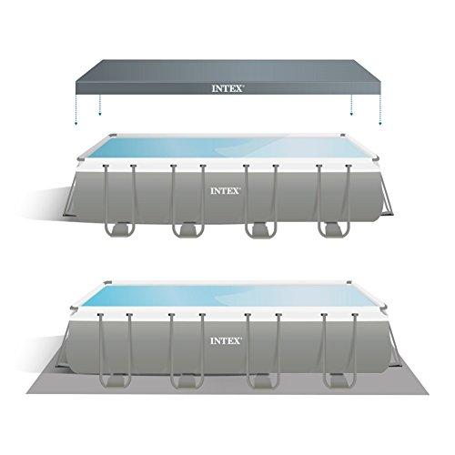 Intex 26352 - Piscina Rettangolare, pompa di filtraggio a sabbia, Blu/Grigio, 549 x 274 x 132 cm - 5