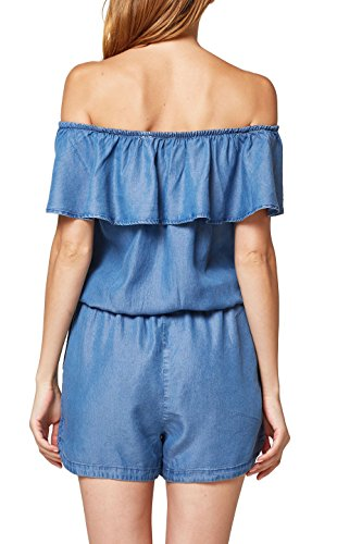 edc by ESPRIT Damen Jumpsuit 058CC1L002, Blau (Blue Wash 902), Medium - 2
