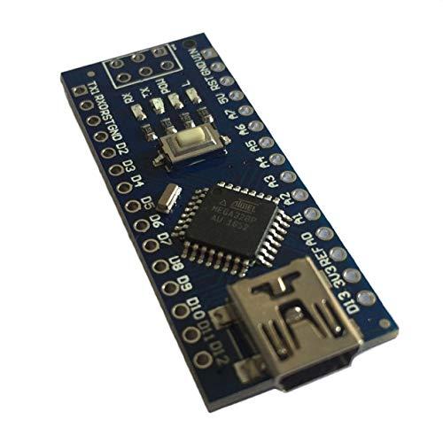HONGIRT Mini Nano V3.0 ATmega328 5V Micro-Controller Compatibile con breadboard Regolatore di Tensione per Scheda Compatibile Arduino (Colore: Blu)