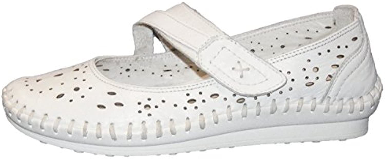 Gemini Damen Ballerina Weiß 304-02-001 2018 Letztes Modell  Mode Schuhe Billig Online-Verkauf