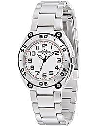 Chronostar - R3753224245 - Alluminium - Montre Mixte - Quartz Analogique - Cadran Blanc / Noir - Bracelet en Aluminium