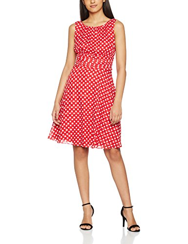 ESPRIT Collection Damen Kleid 027EO1E006, Rot (Red 2 631), 42