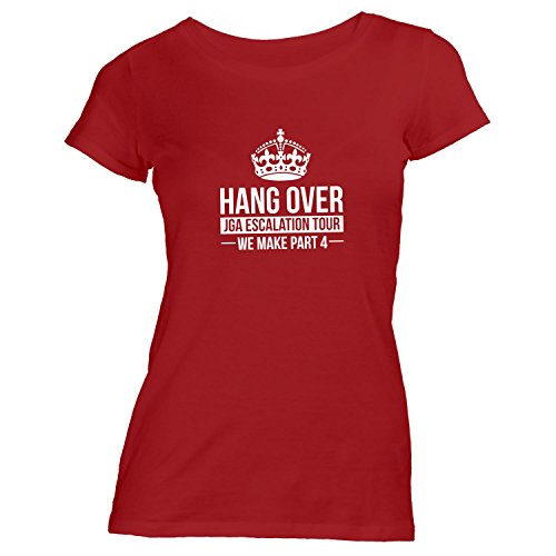 Damen T-Shirt - Junggesellenabschied HANG OVER Escalation Tour Krone - JGA Team Rot