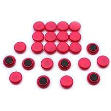 Expert Ltd - Calamite per bacheca piccola da 20 x 7,5 mm,  per ufficio e frigorifero, colore: Rosa (Confezione da