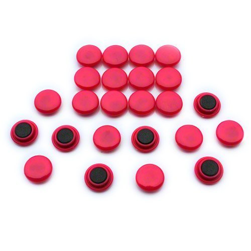 Magnet Expert® Petit planification/avis planche aimants, rose, 1 pack de 24