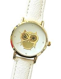 Sanwood® Fashion femmes hibou de ton or décoré Montre Poignet à quartz filles Mesdames montres