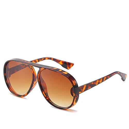 YWYU Persönlichkeitstrend Sonnenbrille Anti-UV-Sonnenbrille Big Box Retro Runde Gesicht Sonnenbrille Unisex (Farbe : F)
