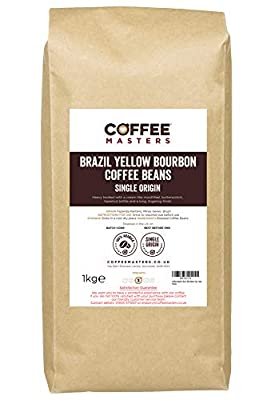 Coffee Masters Brazil Yellow Bourbon Coffee Beans 1kg - New by Coffee Masters