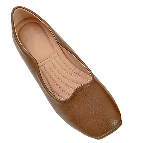 Yiliankeji Oma Einzelne Schuhe Quadrat Kopf Frauen - Frauen Fahren Hotel Arbeit Schwarz Professional Kleid Wohnungen Müßiggänger Flach Mund Retro -