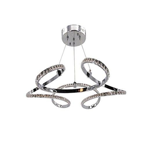 NIHE Moderne minimaliste LED cristal suspension lampe restaurant chambre lumières en aluminium lampe en cristal 72 W européenne lustres en cristal, 3500k