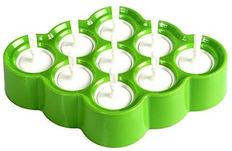 Yier Silikon Mini Ice Pop Formen Lolly Maker BPA Free Kinder Küche Eis Popsicle Formen, grün