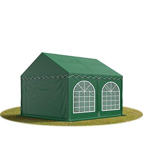 Tente Barnum de Réception 3x4 m PREMIUM Bâches Amovibles PVC 500 g/m² vert fonce + Cadre de Sol Jardin INTENT24