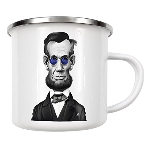 artboxONE Emaille Tasse Abraham Lincoln Steampunk von Rob Snow - Emaille Becher Film