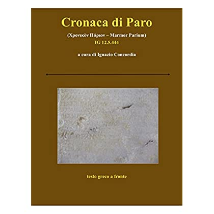 Cronaca Di Paro: Marmor Parium