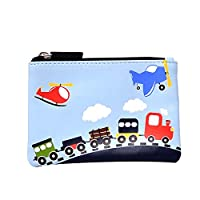 Bobble Art Kids Cars Trucks Coin Purse/Childrens Cars Wallet for Boys and Girls with Zip