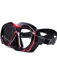 aff67f06e6 KERVINZHANG Gafas de Buceo Dive máscara de Buceo Natación para  Principiantes Lente de Vidrio antivaho Snorkeling