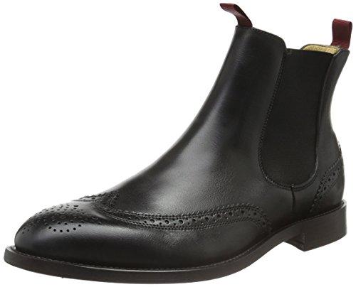 Hudson London Herren Breslin Chelsea Boots, Schwarz (Black), 40 EU (Boots Calf Schwarz London)