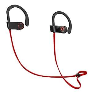 ICONNTECHS IT–Ecouteurs / Oreillettes Bluetooth Sans fil Sport [Bluetooth 4.1,Micro, Réduction du bruit ambiant, Résistance à la sueur, Rechargeable] – Ecouteur / Oreillette idéals pour la course, le running, le fitness, et autres sports.