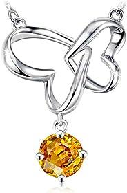 Swarovski Elements 925 Sterling Silver Pendant Necklace JRosee Jewelry JR003