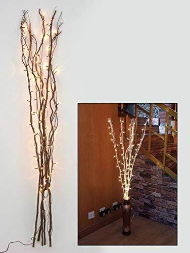 5er Set Lichterzweig, braun, 40 LED warm-weiß, 110cm, Weihnachten -