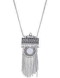 PRITA Silver-Plated Mirror Necklace