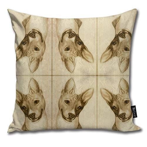 Basenji Portrait Comfortable Soft Bed Pillow Case Household Pillow Case Office Bolster 18x18 Inches (Pillow Hug Sex)
