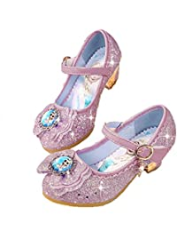 Chicas Zapatos de tacón Alto Primavera y otoño niñas Princesa Zapatos de Nieve Hielo Zapatos de Nieve cómodos Zapatos de Princesa pedrería niñas Zapatos Solteros