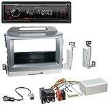 caraudio24 Kenwood KMM-205 MP3 AUX USB 1DIN Autoradio für Kia Sportage 3 (ab 10 Navi) Silber