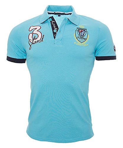Rock Creek Selection - Polo - À logo - Manches Courtes - Homme -  Bleu - Medium