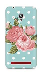Amez designer printed 3d premium high quality back case cover for Asus Zenfone Go ZC500TG (spring floral pink green)