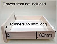Replacement Kitchen Drawer Box Shallow Complete Kit Including Runners From 20 20 13 For 900 Wide Base With 15mm Thick Sides Amazon Co Uk Kitchen Home