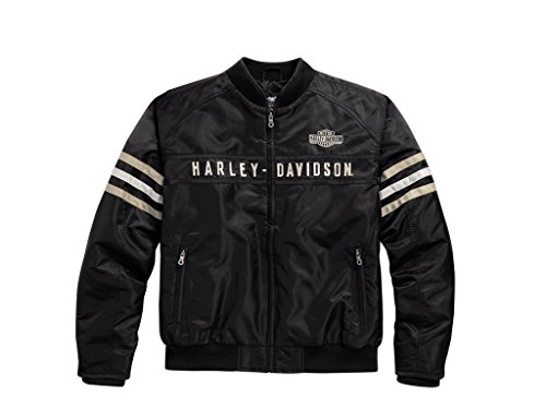 Harley Davidson Heritage Nylon Bomber Jacke, 98552-15VM, 3XL (Gesteppte Nylon-bomber-jacke)